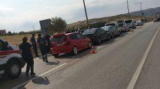 Kırıkkale'de Zincirleme Trafik Kazası