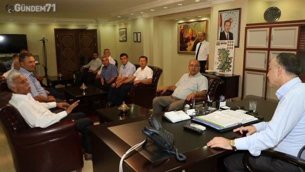 Muhtarlar Mehmet Saygılı'yı Ziyaret Etti