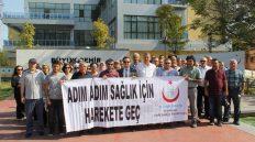 Kırıkkale'de Halk Sağlığı Haftası Nedeniyle Yürüyüş Düzenlendi