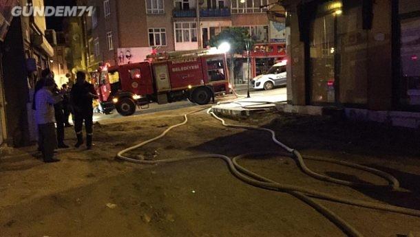 Gece Çıkan Yangın İtfaiye Ekiplerince Söndürüldü