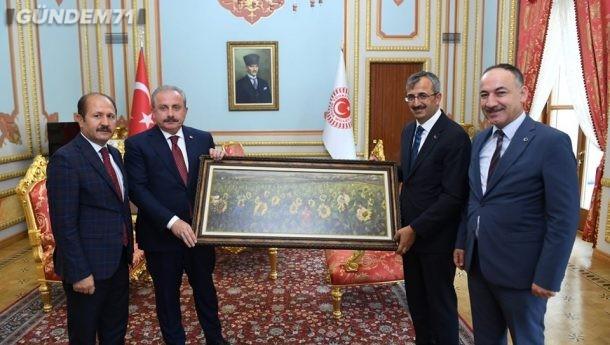 Kırıkkale Heyeti, TBMM Başkanı Mustafa Şentop'u Ziyaret Etti