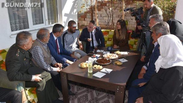 Barış Pınarı Gazisi Piyade Uzman Onbaşı Haydar Kanmaz, Baba Ocağında Ziyaret Edildi