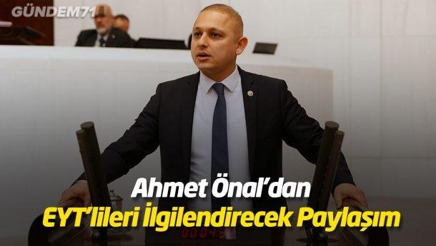 Ahmet Önal'dan EYT'lileri İlgilendirecek Paylaşım