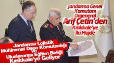Jandarma Genel Komutanı Orgeneral Arif Çetin Kırıkkale'yi Ziyaret Etti