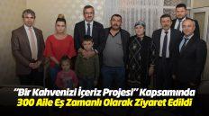 """""""Bir Kahvenizi İçeriz Projesi"""" Kapsamında 300 Aile Eş Zamanlı Olarak Ziyaret Edildi"""