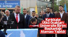 Kırıkkale Ülkü Ocakları Üniversite Birim Başkanlığı Ataması Yapıldı