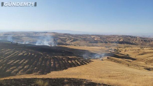 Sulakyurt'ta Tarım Arazisinde Yangın Çıktı
