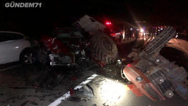 Feci Trafik Kazası: 1 Ölü 1 Yaralı