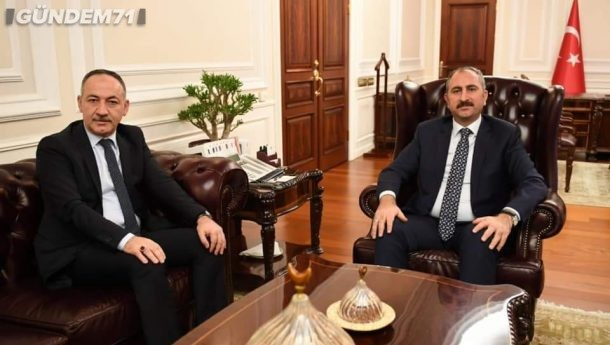 Başkan Saygılı'dan Adalet Bakanı Abdülhamit Gül'e Ziyaret
