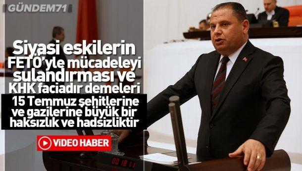 Halil Öztürk; Siyasi Eskilerin FETÖ'yle Mücadeleyi Sulandırması Hakkında TBMM'de Konuştu