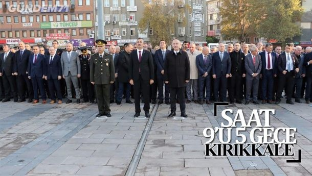 Saat 09:05'te Kırıkkale'de Hayat Durdu