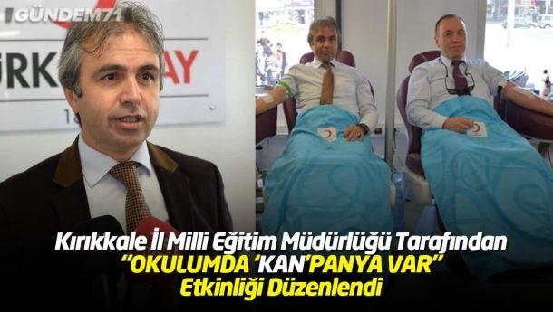 Kırıkkale İl Milli Eğitim Müdürlüğü Kan Bağışı Etkinliği Düzenledi