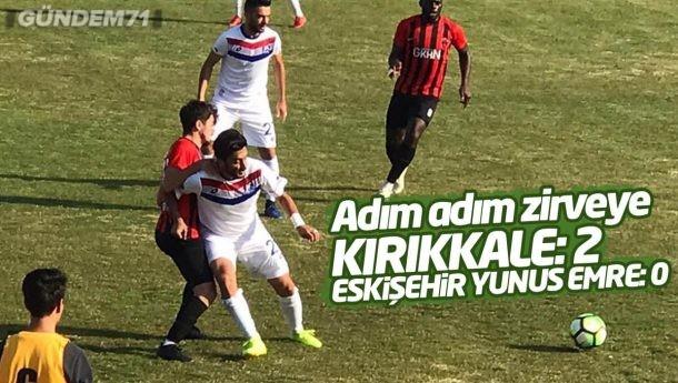 Kırıkkale Büyük Anadoluspor, Eskişehir Yunusemre Spor'u 2-0 Yendi