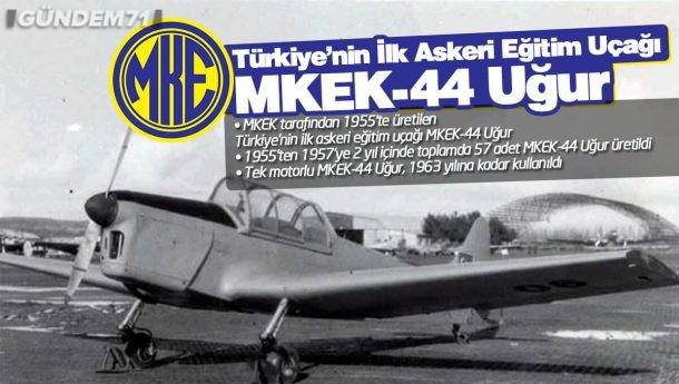 Türkiye'nin İlk Askeri Eğitim Uçağı MKEK-44 Uğur