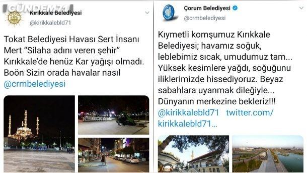 Ak Partili Belediyelerin Twitter'da Başlattığı Kar Diyaloğuna Kırıkkale Belediyesi'de Katıldı