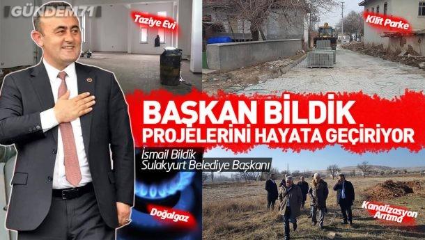 Başkan Bildik, Projelerini Gerçekleştiriyor