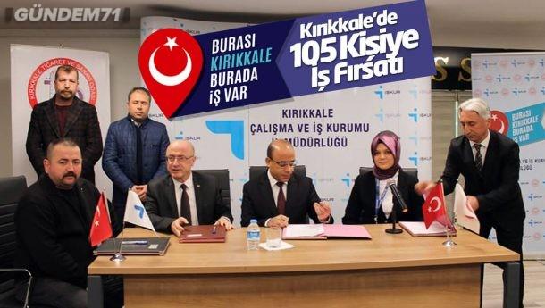 Kırıkkale'de 105 Kişiye İş Fırsatı