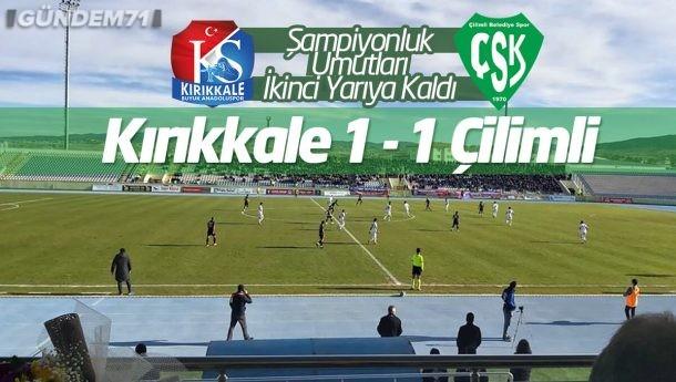 Kırıkkale Büyük Anadoluspor, Ligin İlk Yarısını Lider Tamamladı