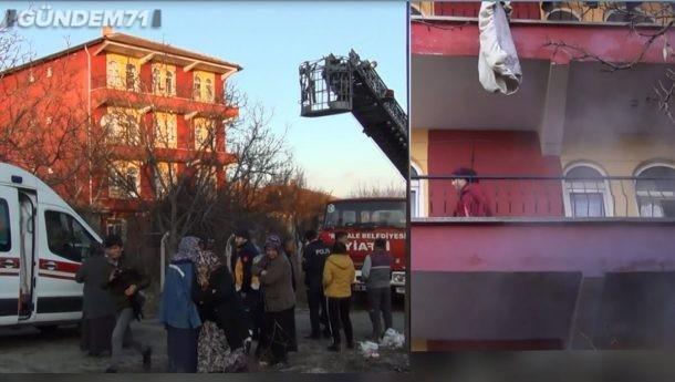 Kırıkkale'de Yangın: 1'i Çocuk 2 Kişi Dumandan Etkilendi