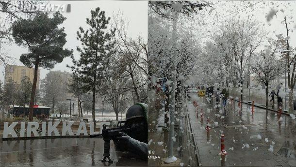 Kırıkkale'de Kar Yağışı Kartpostallık Görüntüler Oluşturdu