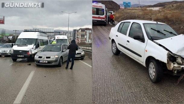 Kırıkkale'de Trafik Kazaları; 7 Kişi Yaralandı