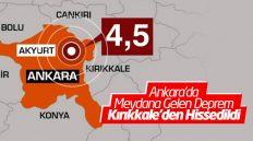 Ankara'da Meydana Gelen Deprem Kırıkkale'den Hissedildi