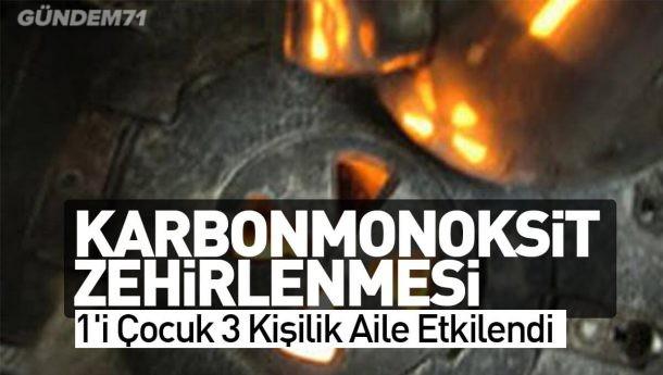 Kırıkkale'de Karbonmonoksit Zehirlenmesi; 1'i Çocuk 3 Kişilik Aile Etkilendi