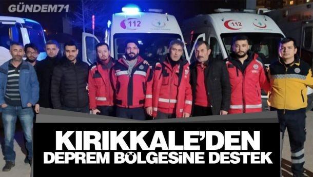Kırıkkale'den Deprem Bölgesine Destek