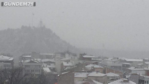 Kırıkkale'de Beklenen Kar Yağışı Sonunda Geldi