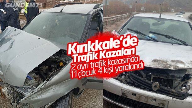 Kırıkkale'de Trafik Kazaları; 1'i Çocuk 4 Kişi Yaralandı