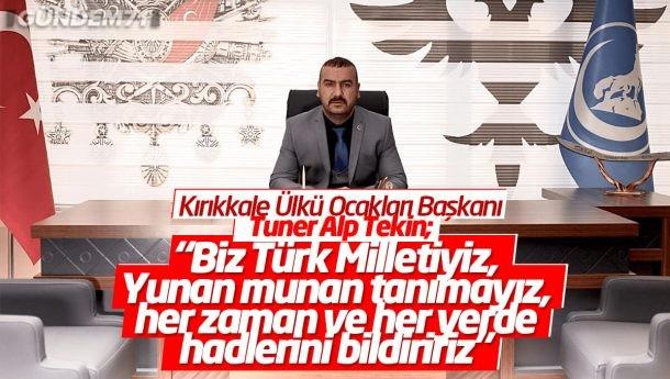 Kırıkkale Ülkü Ocakları Başkanı Tuner Alp Tekin, Türk Bayrağını Yırtan Yunan Vekile Tepki Gösterdi