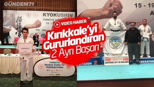 Türkiye Wushu Kung Fu Şampiyonası'nda Kırıkkale'nin Gururları