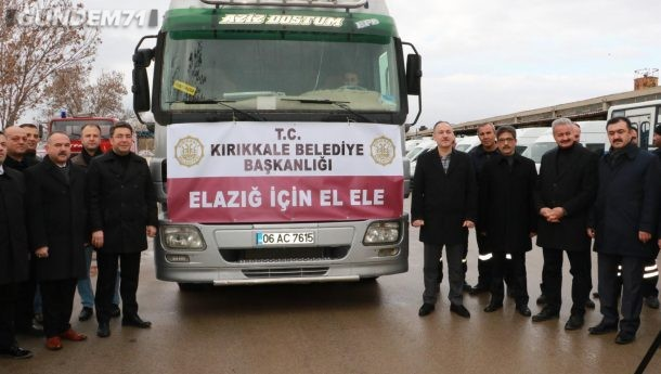 Kırıkkale Belediyesi'nden Depremzedelere Bin Adet Yardım Kolisi Desteği