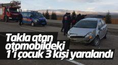 Keskin'de Trafik Kazası: 1'i Çocuk 3 Kişi Yaralandı
