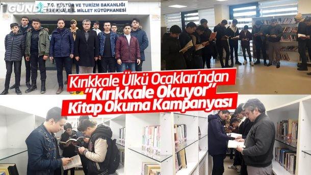 """Kırıkkale Ülkü Ocakları'ndan """"Kırıkkale Okuyor"""" Kitap Okuma Kampanyası"""