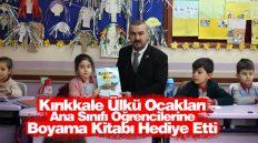 Kırıkkale Ülkü Ocakları, Ana Sınıfı Öğrencilerine Boyama Kitabı Hediye Etti
