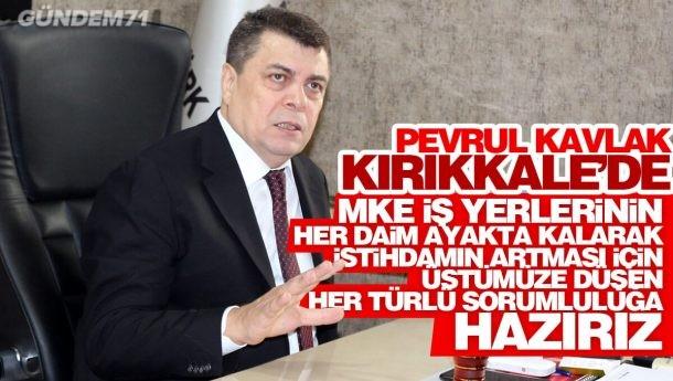 Pevrul Kavlak, Türk Metal Sendikası Kırıkkale Şubesini Ziyaret Etti