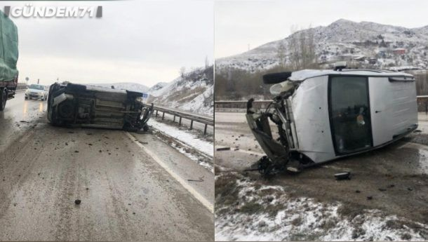Trafik Kazası; 3 Yaralı