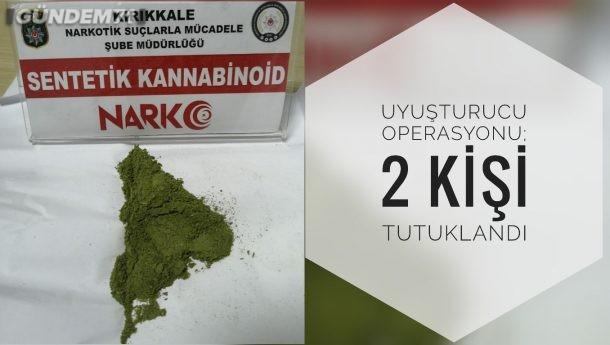 Uyuşturucu Operasyonu; 2 Kişi Tutuklandı