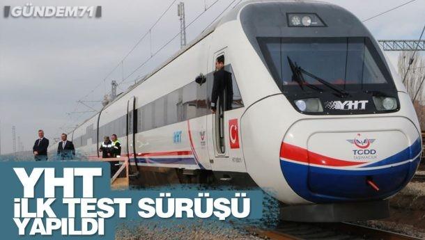 Ankara – Sivas YHT Kırıkkale Bölümünde İlk Test Sürüşü Gerçekleştirildi