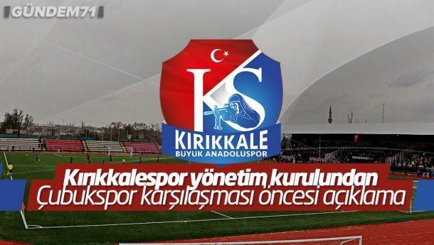 Kırıkkale Büyük Anadoluspor'dan, Çubukspor Karşılaşması Öncesi Açıklama