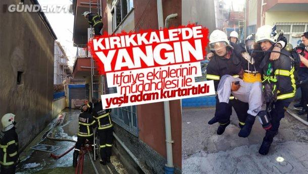 Kırıkkale Belediyesi İtfaiye Ekipleri Engelli Vatandaşı Kurtardı