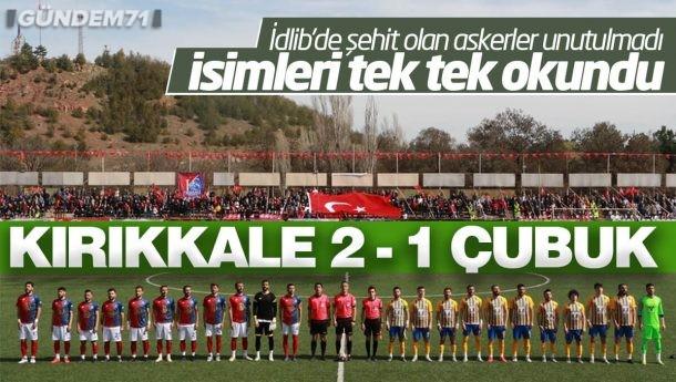 Kırıkkale Büyük Anadoluspor, Çubukspor'u 2-1 Yendi