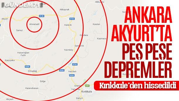 Ankara'da Peş Peşe Depremler! Kırıkkale'den Hissedildi