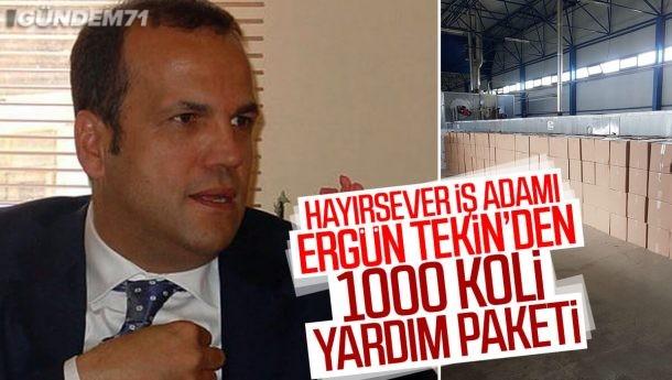 İş Adamı Ergün Tekin'den Kırıkkale'ye 1000 Adet Yardım Paketi