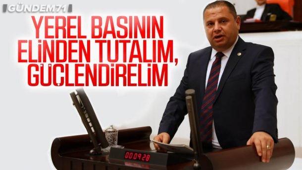 """Halil Öztürk; """"Yerel Basının Elinden Tutalım, Güçlendirelim"""""""