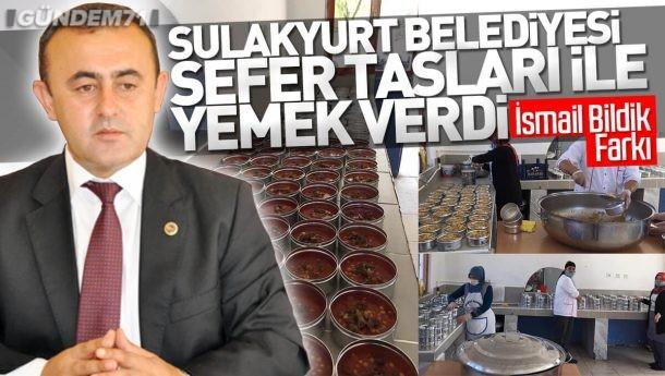 Sulakyurt Belediyesi, İhtiyaç Sahipleri ve Yaşlılar İçin Sefer Tasları İle Yemek Verdi