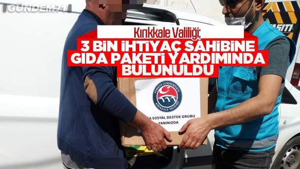 """Kırıkkale Valiliği; """"3 Bin İhtiyaç Sahibine Gıda Paketi Yardımında Bulunuldu"""""""