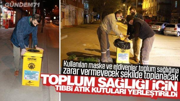 Kırıkkale Belediyesi, Toplum Sağlığı İçin Tıbbi Atık Kutuları Yerleştirdi