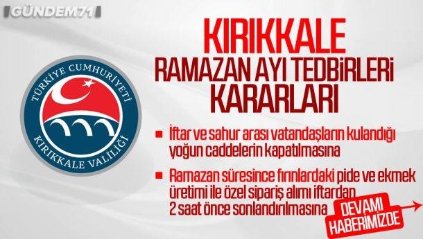 Kırıkkale Valiliği Ramazan Ayı Tedbirleri Hakkında Açıklama Yaptı